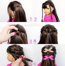 short hair styles with front flips flip twist with mini braids american girl doll hairstyle doll