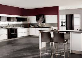 red gloss kitchen cabinets