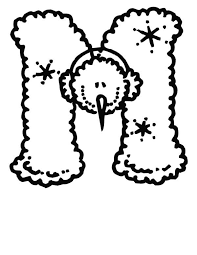 Christmas Letter M Coloring Page Best Place To Color M Coloring Pages