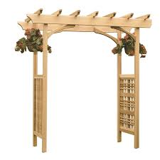shop garden architecture 6 8 ft w x 7 3 ft h natural garden arbor