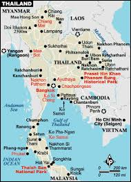 map of thailand thailand sightseeing map of thailand