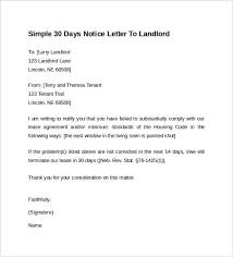 sle eviction notice late rent notice letter to landlord landlord tenant notices rental property