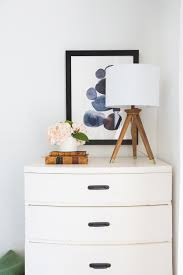 Height Of Bedside Table How To Pick The Right Lamp For Your Dresser Emily Henderson