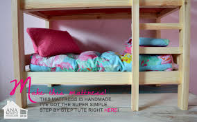 Make Wood Bunk Beds by Ana White Doll Bunk Beds For American Doll And 18