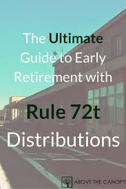 Above The Canopy by 72t Distributions The Ultimate Guide To Early Retirement Above