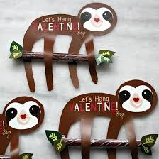 sloth valentines day card diy sloth s day card craftgawker