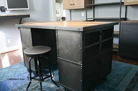 industrial style kitchen islands vintage industrial style kitchen island workstation reclaimed