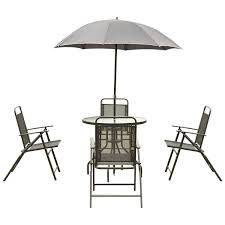 Patio Furniture Round Table by 6 Pcs Outdoor Patio Folding Round Table And Chair Outdoor