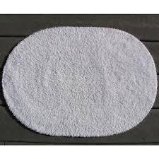Oval Bath Rugs Faze 3 Reversible Cotton Oval Bath Rug 21x34 White 12 Per