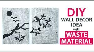 diy wall decoration ideas from waste material diy room decor via