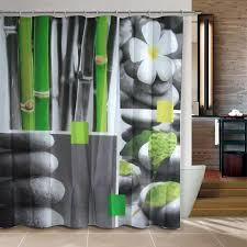 Trendy Shower Curtains Zen Shower Curtain With Racks And Unique Shower Curtains And Shelf