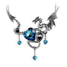 gothic heart necklace images Alchemy gothic draig o gariad dragon heart pendant necklace p772 jpg