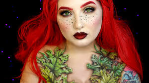 wilted poison ivy halloween makeup tutorial jordan hanz youtube