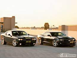 whats better a camaro or challenger hurst chevy camaro and dodge challenger rod