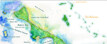 Map Bahamas A Map Of Great Guana Cay Bahamas