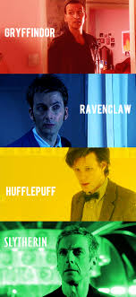 Harry Potter House Meme - the doctors if they were grouped into hogwarts houses doctor who