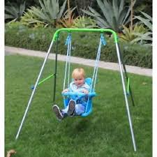 swing set for babies swing set toddler kids baby seat foldable frame playground play