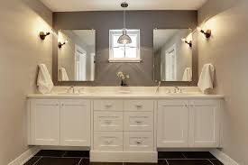 Tile Accent Wall Bathroom White And Grey Bathroom With Black Tiled Floor Contemporary