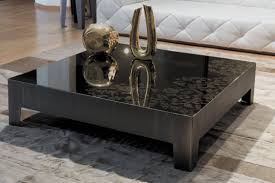 contemporary coffee table glass marble square gorky y 700