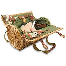 wine basket picnic time verona insulated wine basket with wine