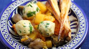 root vegetable casserole with parsley dumplings veganuary