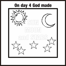 sabbath seventh day of creation coloring page printable pages to