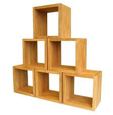 Cube Bookcase Wood Bookcase Solid Wood Cube Shelves Solid Wood Cube Bookshelf Oak