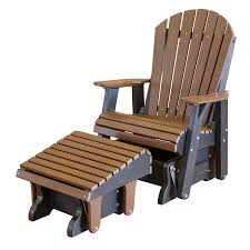 Amish Poly Outdoor Furniture by Amish Heritage Poly Adirondack Chair Glider