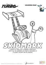 skidmark from turbo coloring page free printable coloring pages