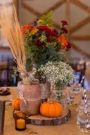 Mason Jars Wedding Centerpieces by Chad And Brandi Planned A Beautifully Diy Ed Fall Wedding