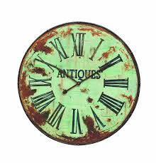 creative wall clock amazon com creative co op country round metal wall clock 41 inch