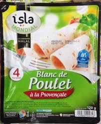 glutamate de sodium cuisine blanc de poulet à la provençale isla mondial 120 g
