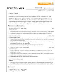 sample summary resume resume examples for customer sample resume