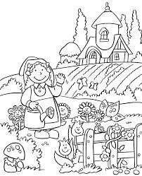 Drawings Of Children Working In A Garden Garden Drawings For Kids
