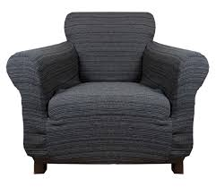 Slipcovers For Sofas Uk by Stretch Elastic Cover Black Gray For 1 Seater Armchair