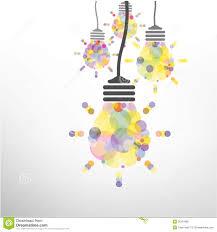 creative light bulb idea concept background design stock vector
