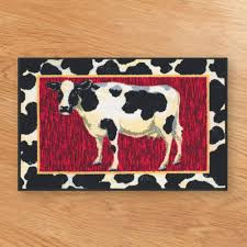 country farmhouse kitchen utensil holder crock jersey cow with