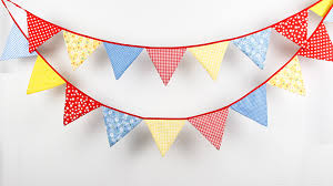 flag decorations for home 4 4m 18flags fabric bunting wedding decoration birthday flag