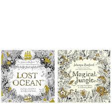johanna basford lost ocean u0026 magical jungle colouring books qvc uk
