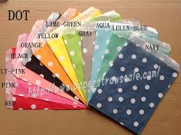 paper bags wholesale 1100pcs mixed 11 colors polka dot paper