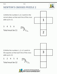 math puzzle worksheets for high school middle schoolers