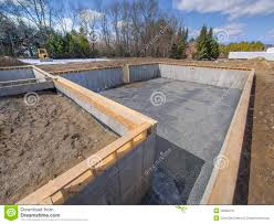 new house foundation construction stock photo image 29902210