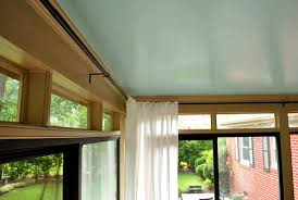 Where To Hang Curtain Rods How To Hang Corner Curtain Rods U0026 Painting The Ceiling Blue