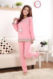 2018 graceful pink pajamas sleepwear sweet fancy cotton