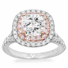 baby engagement rings images Cushion baby split double halo engagement ring with pink diamonds jpg