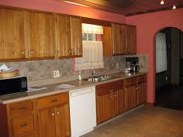 Kitchen Painting Ideas With Oak Cabinets Modern Kitchen Paint Colors With Wood Cabinets With Warm Lamp Can