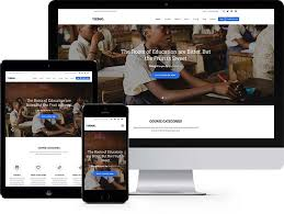 education free html5 bootstrap template elearning websites