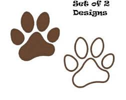 paw print embroidery etsy