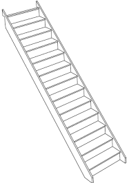 straight staircases in white oak to order online