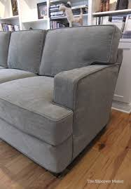 Grey Sofa Slipcover by Slipcover Made For A Contemporary Harding Sofa Using Pottery Barn